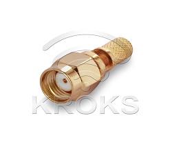 Разъем реверсивный обжимной S-A111F RP-SМА(male) RG-58, RG142, RG400, LMR195 2